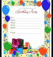 Birthday Invitation Templates Free Download Editable Invitation Templates Fascinating Editable Birthday