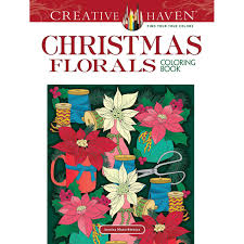 Creative Haven Floral Design Color By Number Coloring Book Creative Haven Christmas Florals Coloring Book By Jessica