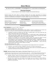 business analysis resume