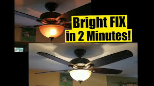 Ceiling Fan Light Flickers On And Off 2 Min Fix For Dim Ceiling Fan Lights Safe No Wiring Wattage Limiter Stays