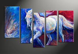 home decor 5 piece canvas arts animal canvas arts wildlife huge canvas art on home wall art painting with 5 piece blue canvas horse wildlife decor