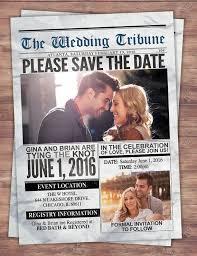 Wedding Invitation Newspaper Template Newspaper Save The Date Wedding Invite Bridal Shower