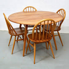 mid century vintage elm dining table chairs by ercol