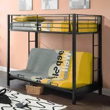 metal bunk bed futon. Premium Twin Over Futon Metal Bunk Bed, Black Bed T