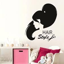 hair salon wall decals hair style uni hair salon sticker fashion girl hairdresser decal barber hair salon wall decals