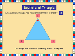 This shape has rotational symmetry every 120 degrees