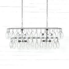 rectangular iron chandelier elegant grand waterfall antique chandeliers for crystal frenc rectangular iron chandelier
