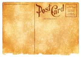 Vintage Postcards Templates Blank Vintage Postcard Sepia Grunge Edition