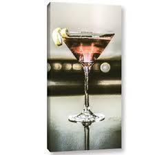 martini glass photographic print on wrapped canvas on martini and rossi wall art with martini glass wall art wayfair