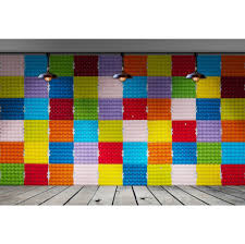 <b>Laeacco Color</b> Brick Wall <b>Wooden</b> Board Floor Scene Children ...