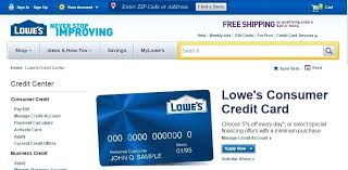 Lowes Commercial Credit Card Application Lowes Financing Consumer Credit Card Login And Bill Pay Consumer