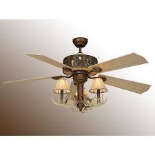 rustic ceiling fan with antler ceiling fan light
