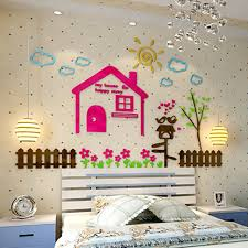 Diy kids room Shelves Colored Happy House Design Acrylic Wall Stickers Diy Kids Room Baby Room Nursery School Wall Decorations Aliexpress Colored Happy House Design Acrylic Wall Stickers Diy Kids Room Baby