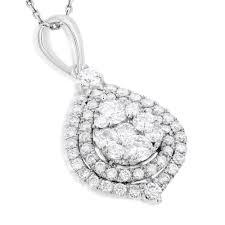 teardrop diamond pendant for women 1 25ct 14k yellow rose white gold main image