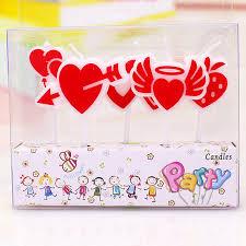 Bibigou Love Angel Creative Birthday Cake Candles 4sets Kids