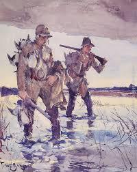 two duck hunters painting frank weston benson two duck hunters art painting