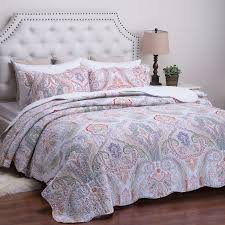 cool paisley print bedding boho red