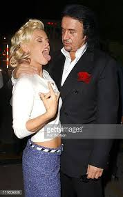 gene simmons tongue. jenny mccarthy and gene simmons during 32nd annual american music awards backstage audience at shrine tongue n