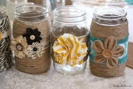 Mason Jars Decorated With Twine DIY Embellished Glass Mason Jars Balancing Beauty and Bedlam 2