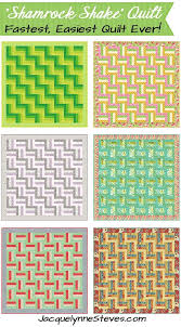 super quick and easy quilt pattern shamrock shake change your colors and fabrics for