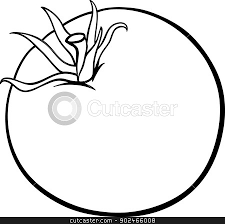 tomato clipart black and white. Vegetable Cartoon For Coloring Tomato Clipart Similar Object Banner Transparent Black And White