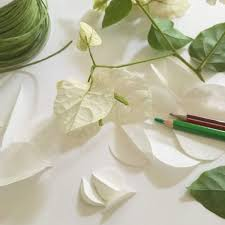 Made Flower With Paper Bougainvillea A Home Made Flower The Paper Heart
