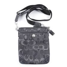 Coach Monogrammed Swingpack Crossbody Bag ...