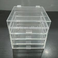clear multi drawers acrylic makeup storage box