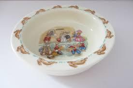 bunnykins vine 1980 s porringer royal doulton bunnykins baby gift bunnykins keepsake baby gift doulton baby bowl