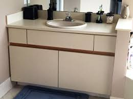 inexpensive bathroom cabinet makeover