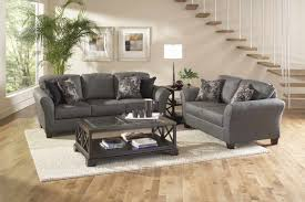 Microfiber Living Room Set Stoked Ashes Sofa And Loveseat By Serta Furniture My Furniture Place
