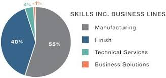 Pie Chart Business Lines 2017 Skills Inc