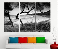 large wall art canvas ocean beach and tree print 3 panel ocean landscape canvas painting on large 3 panel wall art with large wall art canvas ocean beach and tree print 3 panel ocean