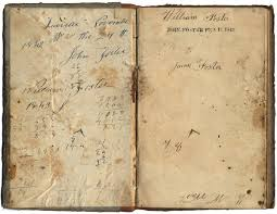 book very old american ledger notebook 1842 to 1844 6 x 4