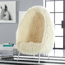 fluffy white desk chair ivory cave chair white fluffy desk chair uk