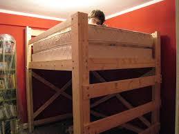 image of diy loft bed plans