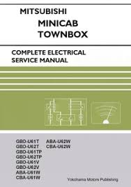buckeye mini trucks the mini truck accessory store mitsubishi minicab townbox u61t u62t electrical service manual