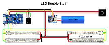 wiring morning star pov double staffs adafruit learning system led strips staff diagram png