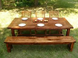 Custom Made Farmhouse Style Dining Table And Bench By Minnesota