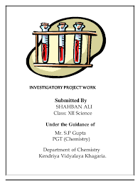 chemistry project for class
