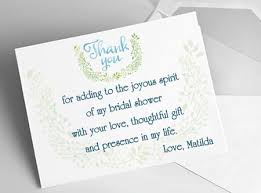 bridal shower thank yous you letter after party host