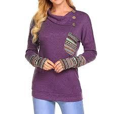Hsn Size Chart Rambling New Womens Long Sleeve Floral Hoodies Tunic Tops