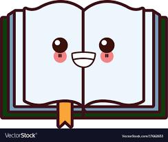 book open symbol kawaii cartoon vector image