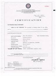 Sample Bank Certificate Philippines Cepoko Com