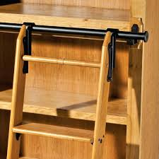library ladder kit most up to date intended for classic satin black rolling diy