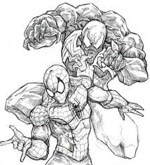 Small Picture Best Photos Of Spider Man Vs Venom Coloring Pages Spider Man And