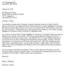 Cover Letter Template Highlighting Internship Cover Letter
