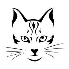 Kattenkop Kleurplaat