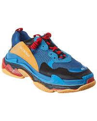 Balenciaga Sneakers Women S Size Chart Amazon Com Balenciaga Triple S Mesh Sneaker 44 Blue