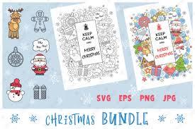 Keep Calm And Merry Christmas Set Graphic By Natariis Studio Creative Fabrica